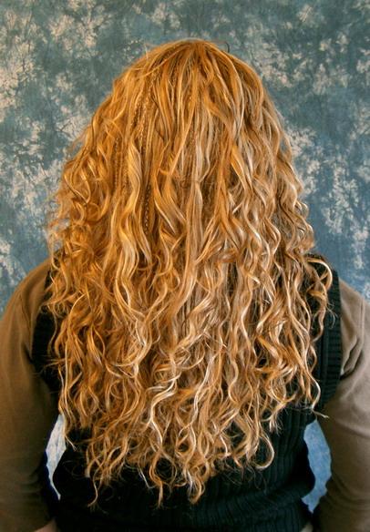 Dauerwelle lange feine haare